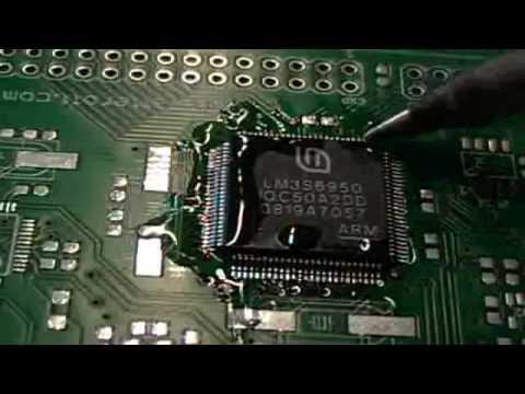 Solder a 100-pin LQFP SMD-IC