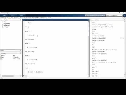 Constants and User Defined Matrices in Matlab Training