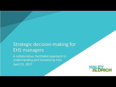Webinar: Strategic decision-making for EHS managers