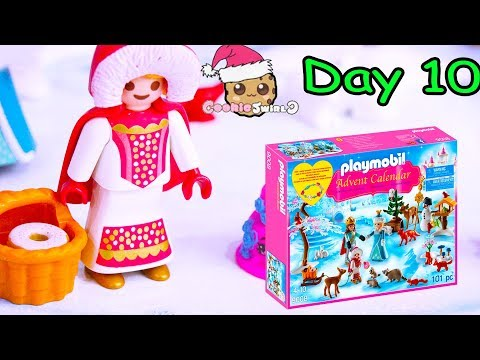 Play doh - Playmobil Holiday Christmas Advent Calendar Day 10 Cookie Swirl C Toy Surprise Video