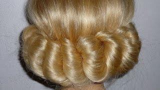 прически с повязкой на средние волосы с челкой
