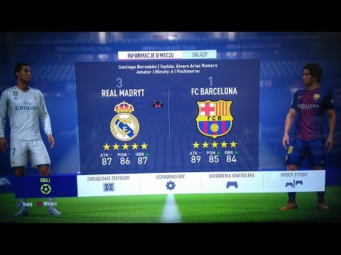 FIFA 18 GAMEPLAY REAL MADRID VS FC BARCELONA [FIFA 18 GAMEPLAY - FULL MATCH] PS4