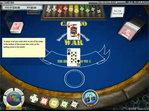 Casino War   Table Games   Online Table Games   USACasinoGamesOnline