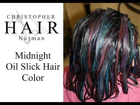 Midnight Oil Slick Hair Color   Christopher Nejman   Tampa, Florida