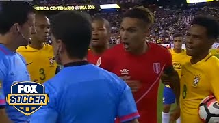 A handball knocked out Brazil and put Peru into the Copa quarters by FOX Soccer