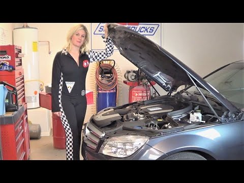 2009 Mercedes Benz C300 Oil Change Tutorial by Howstuffinmycarworks