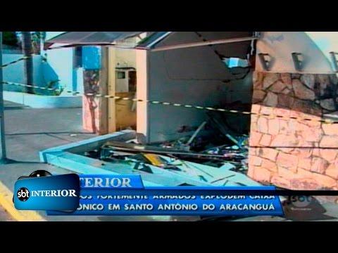 Bandidos explodem caixa eletrônico e levam dinheiro em Santo Antônio do Aracanguá
