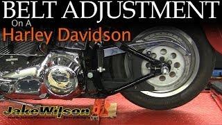 8. Harley Davidson Belt Inspection & Adjustment