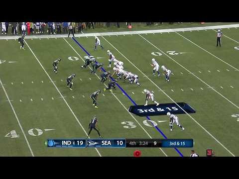 Colts vs Seahawks Preseason 2018 - Bad snap scramble with Benny Hill Theme