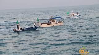 شاهد: أجمل اللقطات من استعراض الصيادين على شاطئ البحر خلال صلاة عيد الأضحى