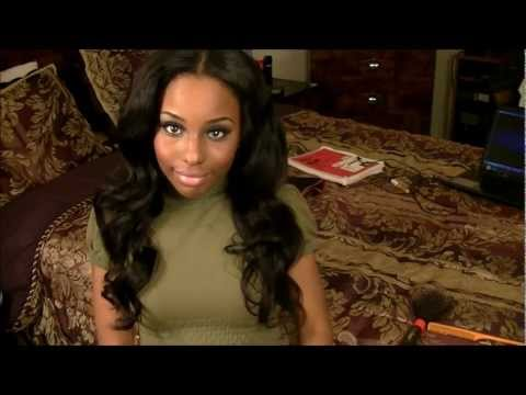 Kim Kardashian Hair lady art - Products I used: Serena Ripple Body 18
