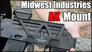 In this video, I take a look at the Midwest Industries AK Railed Scope Mount (AKSM). Overall, this mount provides a great capability to a shooter. Mainly, be...