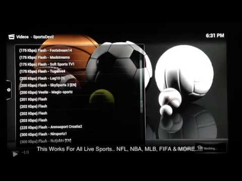 How to Watch Live Sports Events Free on XBMC worldwide Super Bowl, World Series, NFL, NBA, MLB