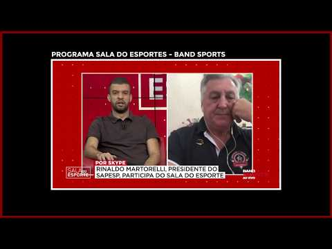 """Martorelli esclarece exclusividade sindical no Programa """"Sala dos Esportes"""" - Band Sports"""