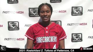 2021 Kealohilani Z. Tufono Outfield and Second Base Softball Skills Video - Firecrackers