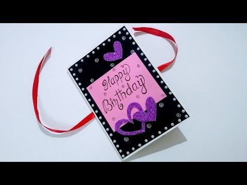 Birthday wishes for best friend - Beautiful Handmade Greeting card idea for Birthday  DIY birthday card idea  Complete tutorial