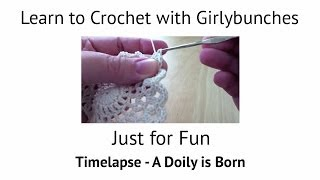 A Doily is Born Please note to avoid disappointment, this is not a tutorial :D