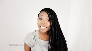 Box Braids Finished Results Solange Knowles / Brandy Inspired Braid Tutorial Part 6