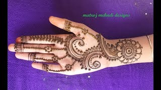 hello all,here is a video on stylish mehndi designs for handsMatroj Mehndi Designs.   https://www.instagram.com/divya080/subscribe for more videos:https://www.youtube.com/channel/UCECgulN13NACgO49LRXeQpAfacebook : https://www.facebook.com/Matroj-Mehndi-Designs-284372255239829/