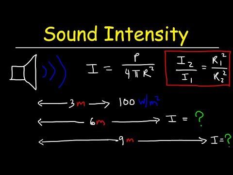Sound Intensity Physics Problems & Inverse Square Law Formula