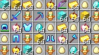 Minecraft UHC but eggs drop random OP loot..
