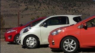 2013 Ford Fiesta Vs Toyota Prius C Vs Scion IQ Mashup Review