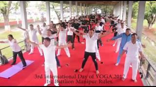 Celebration of International Yoga Day at 1st Bn Manipur Rifles, Imphal, Manipur on 21st June 2017.