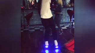 Chris Brown Dancing on Electric Standing Scooter Skateboard 2015