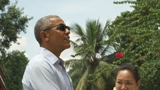 During his visit to the Wat Xieng Thong Buddhist Temple in Luang Prabang, President Obama reflects on the historic nature of this trip, and what it means for the ...