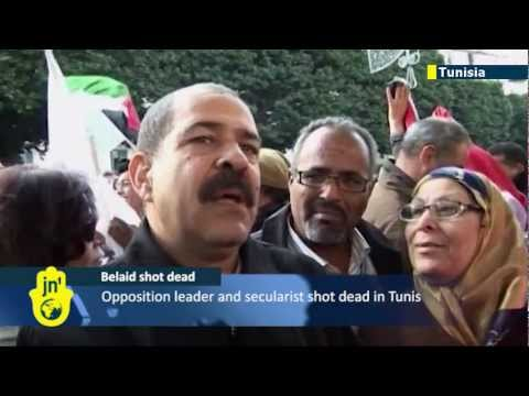 Belaid assassination protests: Islamist parties accused as Tunisian secular leader shot dead