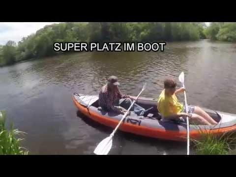 Schlauchboot Kajak mit Zeltimprägnierung