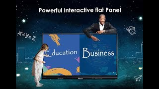 75 Inch Ultra HD 4K Interactive Touch Screen Monitor Smart Board TV With PC All In One youtube video