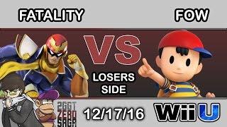 2GGT: ZeRo Saga – FS | Fatality (Captain Falcon) Vs. FOW (Ness) Losers Side – Smash Wii U