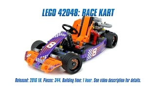 'Lego Technic 42048: Race Kart' Unboxing, Parts List, Speed Build & Review