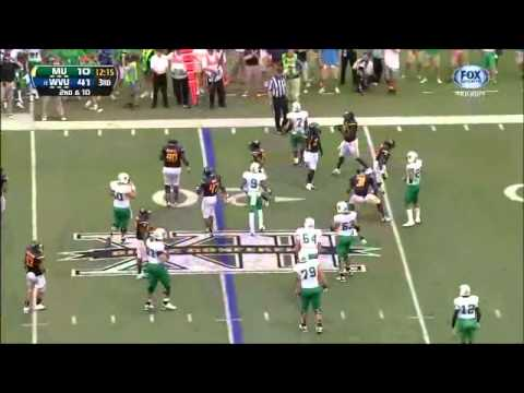 Karl Joseph Highlights vs Marshall 2012 video.