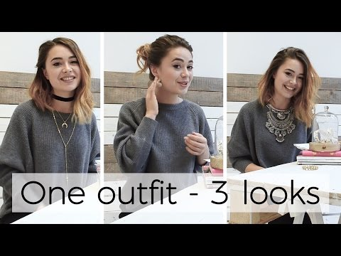 Fashion Jewelry Style Tip - One outfit, Three looks!