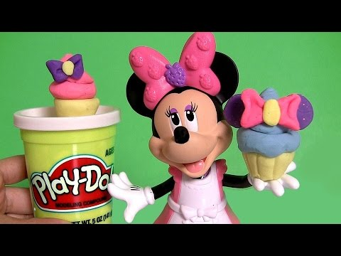 minnie - From Minnie's Bow-tique Disneycollector presents Minnie Mouse Cupcake BowTique using Plastilina Play Doh with Princess Anna Elsa Disney Frozen El Reino del Hielo Magiclip. Lets Help Minnie...