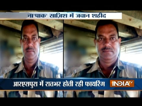 BSF Jawan Sushil Kumar passed away after being injured during ceasefire violation by Pakistan