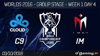 C9 vs IM - World Championship 2016 - Group Stage Week 1 Day 4