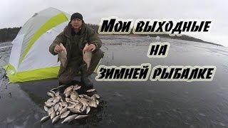 Мои выходные на зимней рыбалке. Вилейское водохранилище.  16-18.01.2015 г.