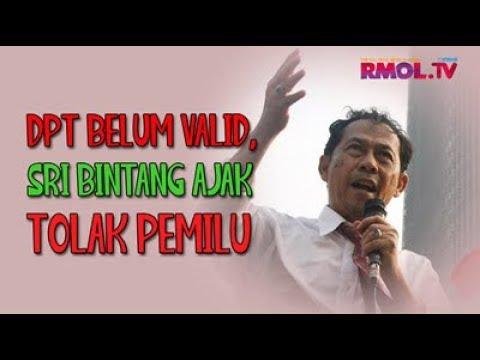 DPT Belum Valid, Sri Bintang Ajak Tolak Pemilu