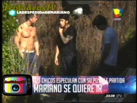 El afuera intenta convencer a Mariano de que se quede en la casa GH 2015 #GH2015 #GranHermano