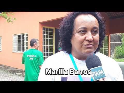 Marília Barros, mãe do atleta Arthur Vinícius, participa do projeto Superando Limites, em Piraí