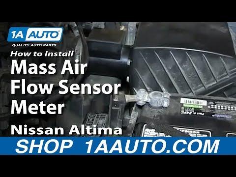 How To Install Replace Mass Air Flow Sensor Meter 1998-01 Nissan Altima