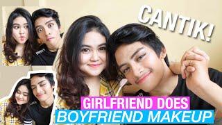 Video COWOK-KU JADI CANTIK BANGET! (Girlfriend Does Boyfriend Makeup) MP3, 3GP, MP4, WEBM, AVI, FLV September 2018