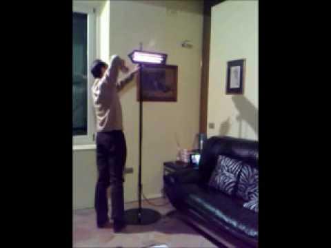 Lampada a infrarossi per il riscaldamento