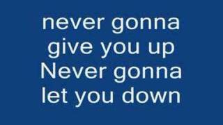 <b>Rick Astley</b> Never Gonna Give You Up Lyrics