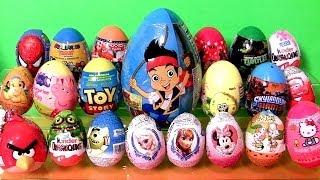 Huge Toy Surprise Kinder egg Play-Doh Flintstones FROZEN Disney Peppa AngryBirds Giant Jake Funtoys