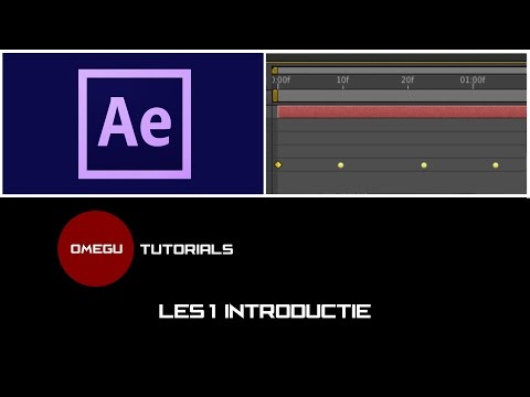 Tutorial Adobe After Effects CC - Les #1 - Introductie (Nederlands)