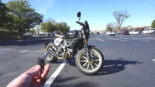 1. 2018 Ducati Scrambler Cafe Racer: Start Up, Exhaust, Test Ride and Review